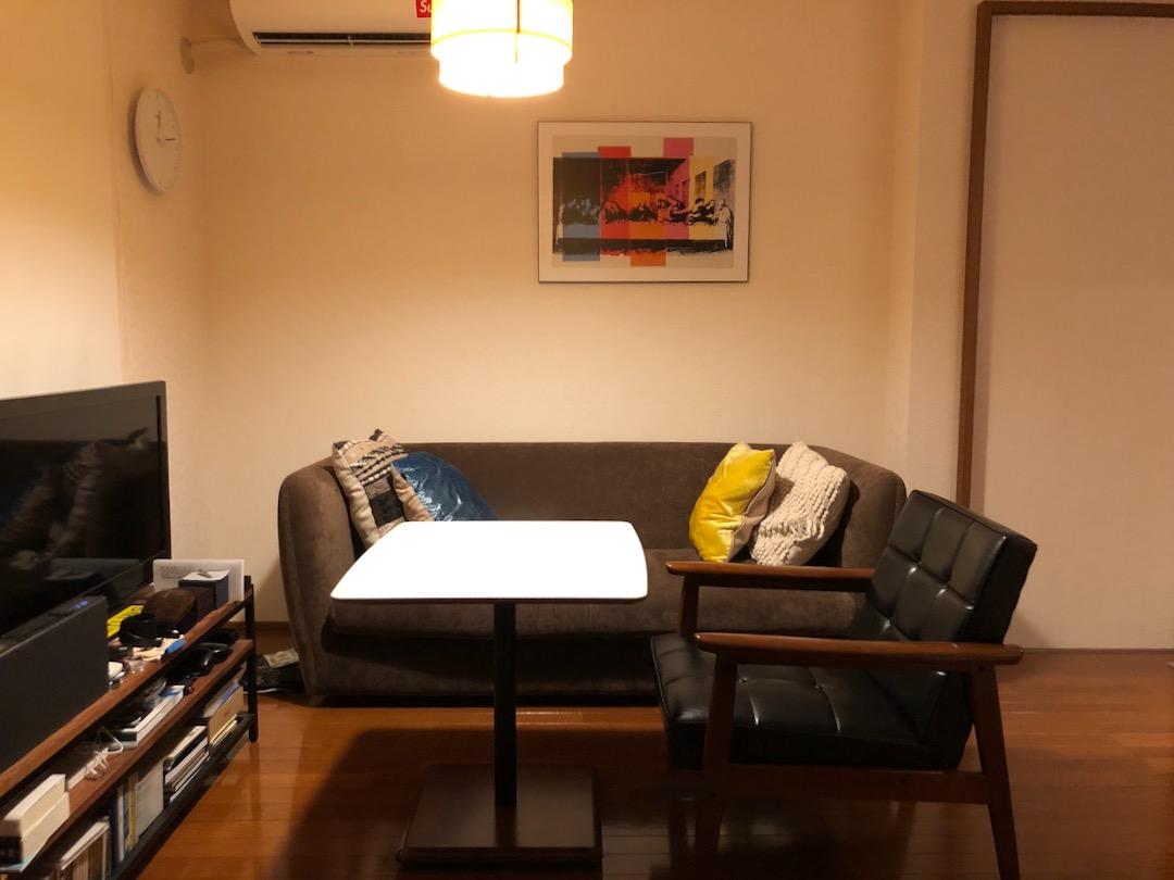 カリモク60+カフェテーブルとKチェア1シーターのセット